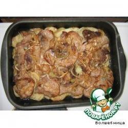 Жаркое маринованное с картошкой