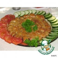 Домашняя колбаса в хрустящем тесте