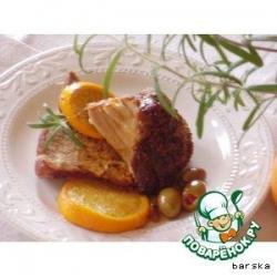 Свинина с апельсинами и оливками
