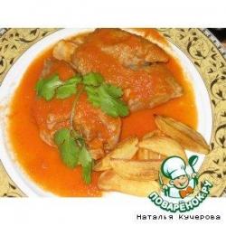Свиные ножки под томатным соусом