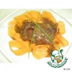 Бифштекс из говядины с папайей
