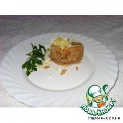 Рис со свиным языком и кабачковой икрой