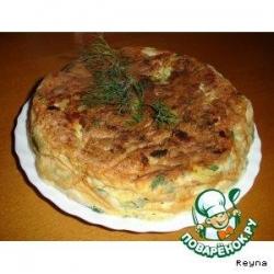 Тортилья с картошкой и луком