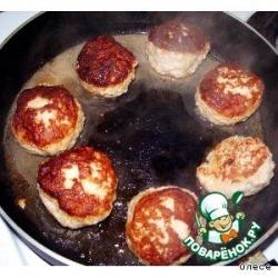 Биточки из рубленого мяса и картофеля