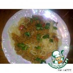 """Спагетти в томатно-мясной пасте """"Любимые"""""""