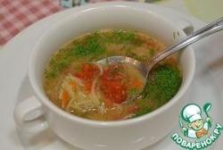 Томатный суп с лапшой