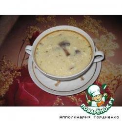 Грибной супчик-пюре с плавленым сырочком