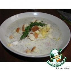 Сырно-молочный грибной суп-пюре
