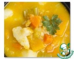 Крем-суп из тыквы с куриными кнедликами
