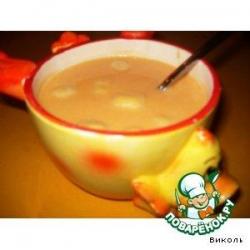 Сладкий тыквенный суп с ленивыми варениками