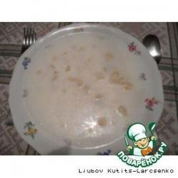 Венгерский молочный суп с чипетками и цветной капустой