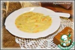 Молочный картофельный суп с макаронами