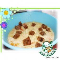 Молочно-сырный суп с тыквой и куриными фрикадельками