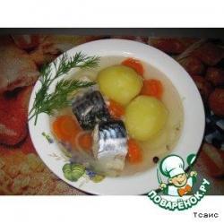 Бульон из скумбрии с картошкой
