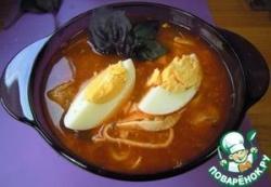 Рыбный томатный суп-лапша