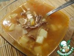Легкий рыбный супчик из кильки в томате