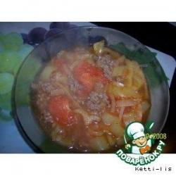 Томатный суп с фаршем
