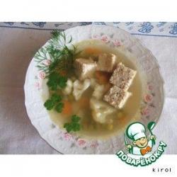 Суп куриный с паштетом
