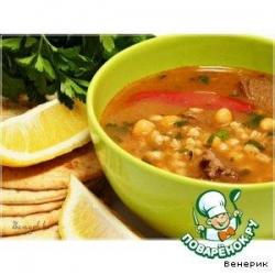 Суп из баранины с нутом и перловкой (Chorba frik)