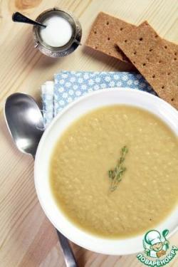Охлажденный суп из порея и авокадо