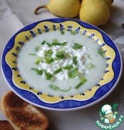 Холодный огуречный крем суп с творогом