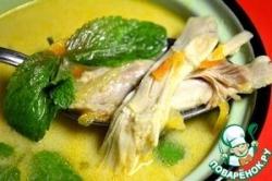 Тайский куриный бульон с мятой и карри