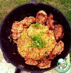Рис с бараниной по-деревенски