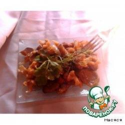 Овощи со свининой в соусе