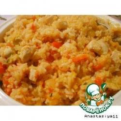 Соте из индейки с рисом
