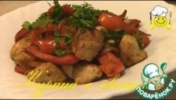 Жареная курица с овощами по Дюкану