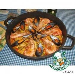 Паэлья с морепродуктами (Paella de marisko)