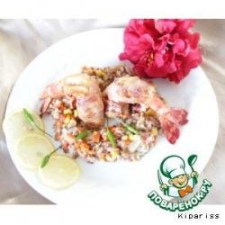 Рис с креветками в текиле