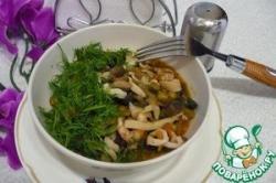 Фрикасе из свежих овощей с морепродуктами