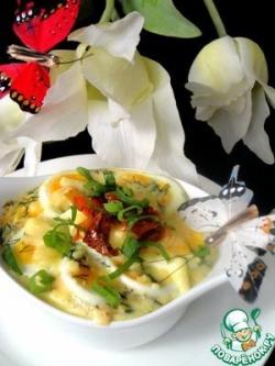 Запечённый лосось с яйцами