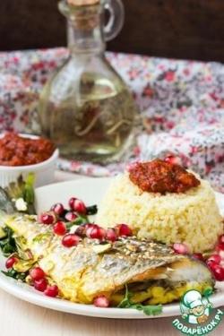 Рыба по-мароккански с пшеном