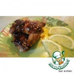 Куриные крылья в медовой глазури и оригинальный принцип их приготовления