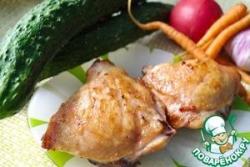Жареные куриные ножки в глазури из горчицы и белого вина