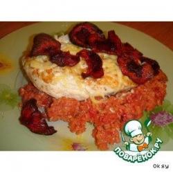 Куриные эскалопы с красным рисом