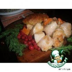 Курица с бисквитами