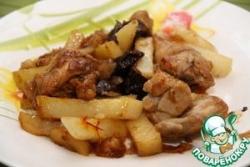 Цыплята-корнишоны с картофелем и черносливом
