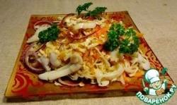 Салат с кальмарами по-вьетнамски