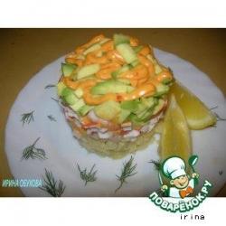 Террин с авокадо и креветками