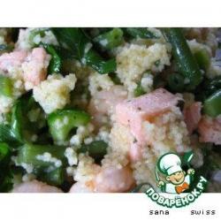 Теплый   салат   с   семгой,   овощами   и