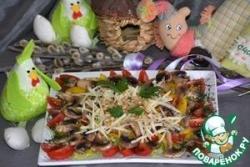 Салат с сырыми шампиньонами и кедровым орехом