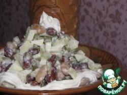 Салат из фасоли с сыром