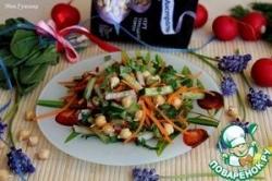 Салат с овощами и пророщенным нутом