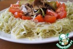 """Смешанный салат под соусом """"винегрет"""""""