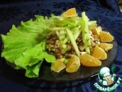 Легкий салат из чечевицы