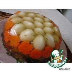 Заливное из перепелиных яиц