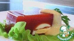 Студень из томатного сока с яйцами